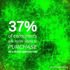 37% of consumers are more likely to purchase on a mobile optimized site  #shopping #ecommerce #onlineshopping #mobile #optimized #optimization #optimize #web #website #marketing