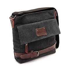 Good&god Vintage Canvas Shoulder Bag Messenger Case Backpack for Ipad Travel Portfolio Bag
