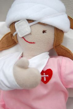 ikatbag's Owie Dolls-have to show this to my friend who is a pediatric nurse!