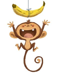 Discover recipes, home ideas, style inspiration and other ideas to try. Monkey Drawing Cute, Monkey Art, Cute Monkey, Cartoon Monkey Drawing, Monkey Illustration, Fruit Illustration, Animal Sketches, Animal Drawings, Cartoon Drawings