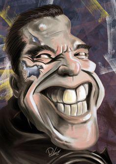 Arnold Schwarzenegger in #terminator - caricature by Ribosio