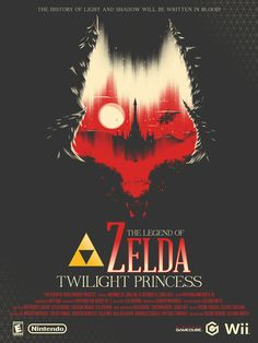 The Legend of Zelda: Twilight Princess poster by Marinko Milosevski. #Nintendo