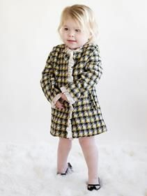 Look closely at this coat and you ll see tiny stars in the yellow and grey plaid The hidden snaps and ruffle detailinPrice - $85.00 - VZZPbRB9