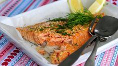 Uunilohta valmistaessa kannattaa olla tarkkana, ettei kalasta tule ylikypsää.