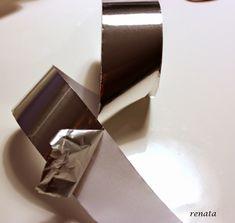 Kunst med aluminiumtape, art, bogstave, aluminium, tape