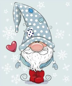 Greeting Christmas card Cute Cartoon Gnome on a blue backgroundWelcome Winter Gnome Snowflakes Winter Sign- Millions of Creative Stock Photos, Vectors, Videos and Music Files For Your Inspiration and Projects.Solve Frosty Gnome jigsaw puzzle online w Christmas Rock, Christmas Gnome, Christmas Drawing, Christmas Paintings, Welcome Winter, Illustration Noel, Christmas Decorations, Christmas Ornaments, Digi Stamps