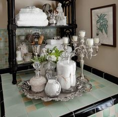 Decorating with Silver Trays | silvertrayspinterest.com:pin:234468724320459509:
