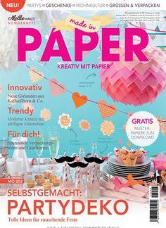 Papier ist mein Lieblingsmaterial beim Basteln. Gefunden in: Mollie Makes Sonderheft Nr. 2/2014