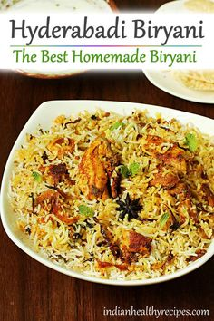 hyderabadi biryani recipe - Make the best biryani at home with this simple no fail recipe. With video & step by step instructions indian hyderabadibiryani biryani biryanirecipe 49891508358880350
