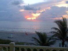 Sunrise over the Atlantic Ocean, (Highland Beach, Florida)