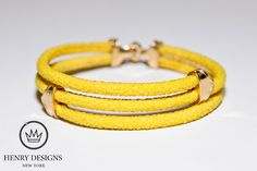 #Citron #Yellow #Sting #bracelet enclosed with signature #Prestige High Polish Clasps.     *Shown in Pure Silver - 24k Gold Plating*    Item #B422GP    Available in Pure #Silver, 18k #Gold, #Rose #Gold, #Platinum and #Diamonds.