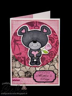 Using Digital Delights Luvvy Bear & Mother's Day sentiment