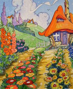"""Daily Paintworks - """"The Flower Farmer Storybook Co..."""" by Alida Akers"""