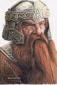 Gimli, Son of Gloin – Brandi York Tolkien Hobbit, Hobbit Art, O Hobbit, Legolas, Gandalf, Lord Of Rings, Dwarf Fighter, Fantasy Dwarf, Desenho Tattoo