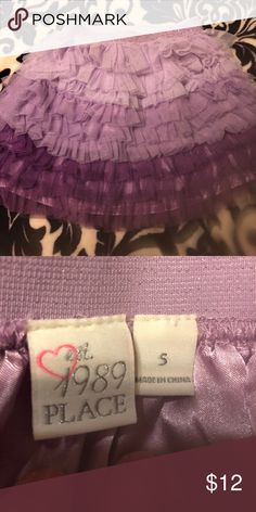 Girls tiered ombré tulle skirt Limited wear, size 5 girls purple ombré tiered skirt Bottoms Skirts