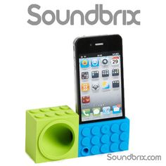 Soundbrix iPhone 5, 5S, 5C, iPod 5 Amplifier, Powerless Lego Speakers on Etsy, €12,79