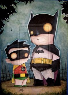 Batman and Robin Illustrated by Chris Uminga