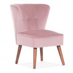 6e65ef131c97 Blossom Pink Velvet Penelope Wingback Accent Chair