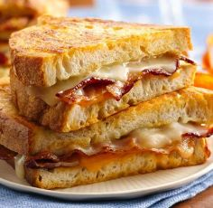 Use Wisconsin Cheese for this Beer Battered Grilled Cheese Sandwich recipe! Yum.  Recipe at bettycrocker.com