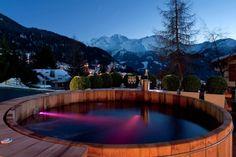 bain scandinave, éclairage LED et panorama magnifique