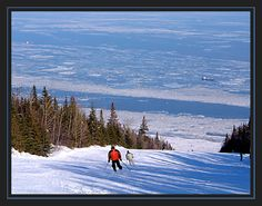 Skiing at the Massive - Petite riviere St-Francois, Quebec