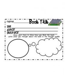 cutesy response page...good for Reader's Response NBs or the Principal's BOTM!