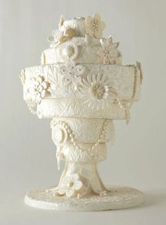 Upside down wedding cake. Elegant