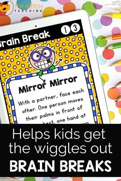 We know the importance of brain breaks to help students focus and learn. Don't waste time looking for fun and effective brain break activities. Just use these printable Brain Break Cards and fill your teacher bag of tricks with brain breaks your students will love. These 60 brain break activities were designed to help students take a short mental break, regain focus, and re-energize to get them back on track for learning. The perfect addition to any classroom management system! Comprehension Strategies, Teaching Strategies, Teaching Tips, Teaching Reading, Teaching Math, Learning, Teaching 5th Grade, 2nd Grade Classroom, Primary Classroom