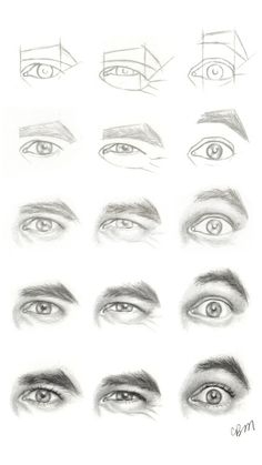 Realistic Drawing Tips Character Design Collection: Eyes AnatomyCharacter Design Collection: Eyes Anatomy Drawing Lessons, Drawing Techniques, Drawing Tips, Drawing Sketches, Pencil Drawings, Art Drawings, Drawing Faces, Eye Sketch, Drawing Hair