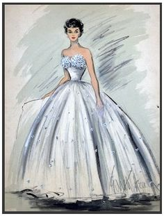 edith head bocetos de moda