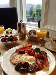 Full Scottish Breakfast, including black pudding (not for the faint hearted!) via