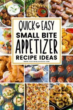 Here is the ultimate collection of delicious and easy bite sized appetizers that are perfect for dinner parties, BBQs, family gatherings, holidays and any other event where you want to serve fuss free easy bite sized appetizers to guests. Bite Size Appetizers, Best Party Appetizers, Yummy Appetizers, Appetizer Recipes, Brunch Recipes, Brunch Food, Easy Family Meals, Easy Meals, Easy Holiday Recipes