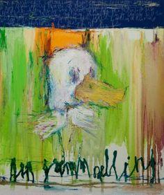 "Saatchi Online Artist: Woo, Kukwon; Oil, Painting ""Ugly Duckling"""
