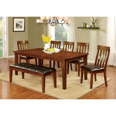 Furniture of America Ginsberg Transitional Dining Table - IDF-3914T