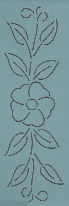 "Wild Rose Vine 3"" - The Stencil Company"