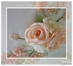 Fita de seda bordado: Tutorial - Fita dobrada Rose