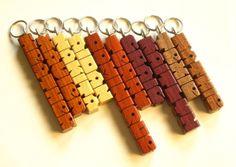 Custom Wood Name MiniTag Charm  Pendant  Zipper Pull  by DustyNewt, $6.95