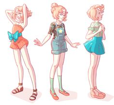 cartoon, cute, fashion, pearl, steven universe