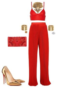 Untitled #163 by cherhorowitz95 on Polyvore featuring polyvore fashion style T By Alexander Wang Christian Louboutin Balmain Jewels by Viggi Michael Kanners clothing
