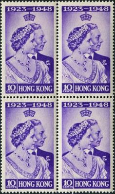 HONG-KONG-1948-KGVI-10c-violet-SG171-CV-15-00-mint-MH-Block-of-4-Stamps