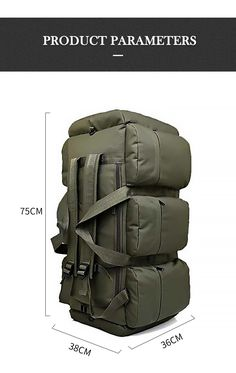 Large Capacity Men's Travel Bags Canvas Military Tactical Backpack Waterproof Hiking Climbing Camping Rucksack Bags on AliExpress - Day Camping Rucksack, Climbing Backpack, Big Backpacks, Tactical Equipment, Mens Travel, Tactical Backpack, Double 11, Survival Kit, Boy Scouts
