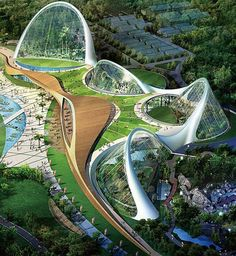 Grimshaw Architects recently completed the amazing Ecorium at the National Ecology Center in Seocheon, South Korea.