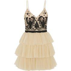 Alice + Olivia Drury embellished tulle mini dress ($314) ❤ liked on Polyvore featuring dresses, vestidos, short dresses, white, white beaded dress, sequin dress, sequin mini dress and short tulle dress