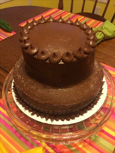 Two-tiered Chocolate Cake with Chocolate Frosting!