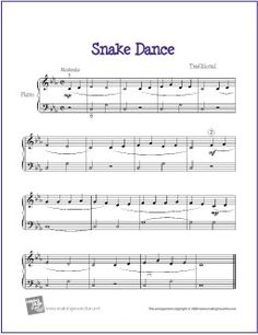 Snake Dance With Images Easy Piano Sheet Music Christmas