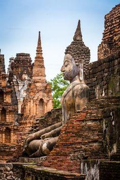 Bilder zu Sukhothai Historical Park in der Provinz Sukhothai in Thailand Lizenzfreie Fotos Image Thailand Vacation, Thailand Travel Guide, Visit Thailand, Asia Travel, Thailand Photos, Thailand Tourism, Places To Travel, Places To See, Travel Destinations