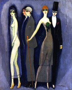 """Comedia-Montparnasse blues.1925. Kees van Dongen. Après la guerre, Van Dongen est un fauve assagi tournant au peintre mondain. Sans être """"Art Déco"""" il capte l'esprit des années folles..."""