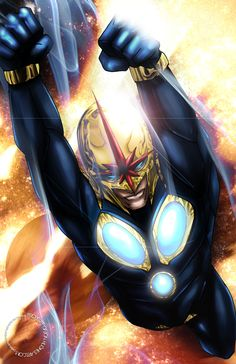Already have this on my wall! #nova #marvel #jonhughes  11 x 17 high quality cardstock, acid free art print signed by Jon Hughes. Print will not have watermark. If you want it personalized, leave your request in a note during purchase.