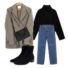 Blazer Fashion, Winter Fashion Outfits, Modest Fashion, Trendy Fashion, Korean Fashion, Tumblr Outfits, Mode Outfits, New Outfits, Cute Casual Outfits