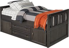 Creekside Charcoal 3 Pc Twin Captains Bed. $429.99. 79L x 43W x 34H. Find affordable Beds for your home that will complement the rest of your furniture.